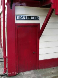 Settle Station Signal Box (current position): Door to frame-room