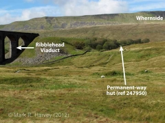 Platelayers' Hut - Ribblehead Viaduct North: Context view from the south-east