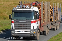 Timber transport by road to Ribblehead Railhead