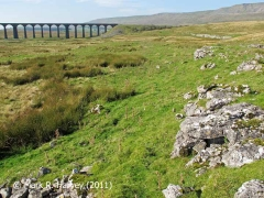 Ribblehead Railway Construction Camp Stone Sorting Yard: Context from the east