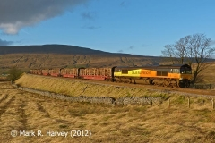 Timber transport by rail from Ribblehead Railhead
