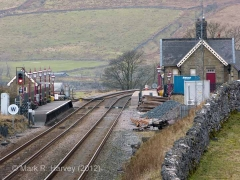 Ribblehead Station - Passenger Platform (Down): Context view from the east
