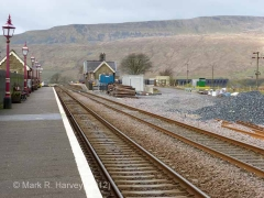 Ribblehead Station - Passenger Platform (Down): Context view from the south-east