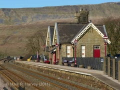 Ribblehead Station - Passenger Platform (Up): Context view from the south-east