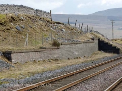 Retaining Wall for Ribblehead Up Sidings: Elevation view from the west