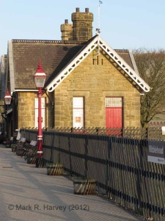 Ribblehead Station Booking Office: South-eastern elevation view