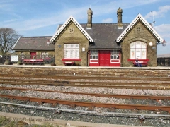 Ribblehead Station Booking Office: South-western elevation view