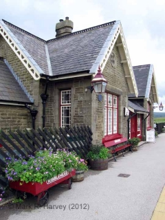 Ribblehead Station Booking Office: Western elevation view (2)