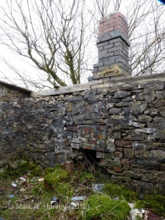 Platelayers' Hut - Ribblehead Viaduct N: Interior, east wall, fireplace/chimney