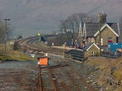 Ribblehead Station Booking Office: Context view from the south-east (v2)