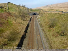 Blea Moor Tunnel South Portal: Context view from the south (1).