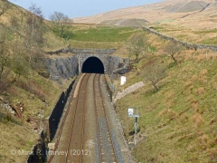 Blea Moor Tunnel South Portal: Context view from the south (2).