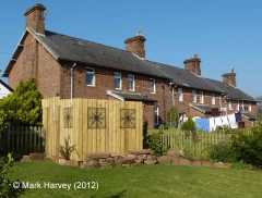Armathwaite Workers' Housing (terrace of 6): South-west elevation