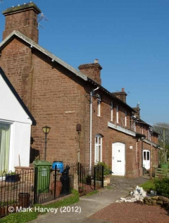 Armathwaite Workers' Housing (terrace of 6): West elevation