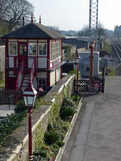 Settle Station Signal Box (current position): Context view from the north