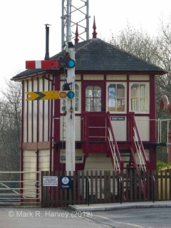 Settle Station Signal Box (current position): North-east elevation