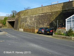 Settle Station - Retaining wall (down side): South-west elevation view (1)