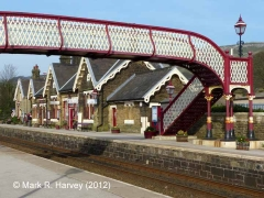 Settle Station Booking Office: Context view from the South West (2)