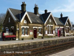 Settle Station Booking Office: North-western elevation view