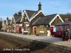 Settle Station Booking Office: South-western elevation view