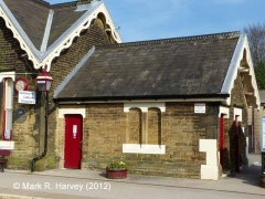 Settle Station Booking Office: Western elevation view (3)