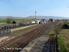 Southern approach to Kirkby Stephen Station viewed from the north-west (1)