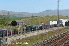 Kirkby Stephen Station Cattle Dock: Northwest elevation view