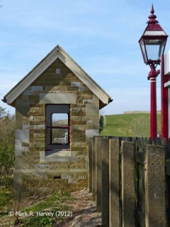 Kirkby Stephen Station Waiting Shelter: Southeast elevation view