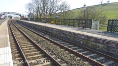 Kirkby Stephen Station 'Down' Passenger Platform, viewed-from-North