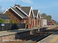Armathwaite Passenger Platform (Down): South elevation view