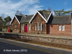 Armathwaite Station former Booking Office: East elevation view