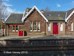 Armathwaite Station former Booking Office: South-east elevation view (1)