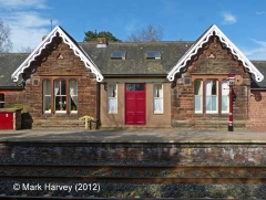 Armathwaite Station former Booking Office: South-east elevation view (2)