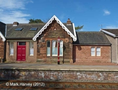 Armathwaite Station former Booking Office: South-east elevation view (3)