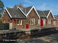 Armathwaite Station former Booking Office: South-south-east elevation view