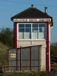 Hellifield South Junction Signalbox: North-western elevation view
