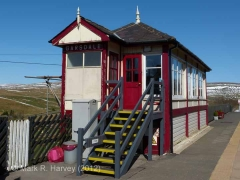 Garsdale Signal Box: South-west elevation view