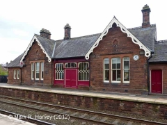 Lazonby & Kirkoswald Booking Office: North elevation view