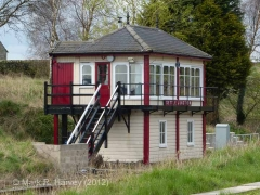 Settle Junction Signal Box: South-east elevation view