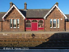 Lazonby & Kirkoswald Booking Office: North-east elevation view