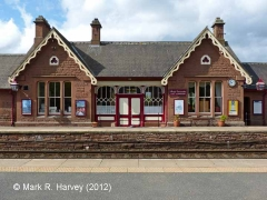 Langwathby Station Booking Office: North-east elevation view