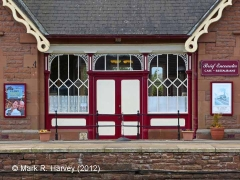 Langwathby Station Booking Office: Platform-side doorway / porch