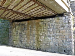 Bridge SAC/7 - Station Road: South abutment and underside of bridge deck