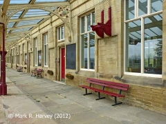Hellifield Station: 'Down' Platform and canopy