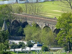 Bridge SAC/9 - Church Viaduct: North-east elevation view  (aerial perspective)