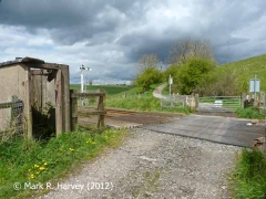 Haw Lane level crossing and fog hut, context view from the south (3)