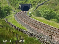 Blea Moor Tunnel North Portal (Bridge No 072): Context view from the northeast