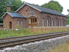 Armathwaite Station Goods Shed: South-east elevation view