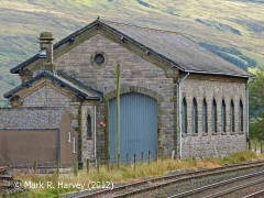 Kirkby Stephen Goods Shed: North-west elevation view