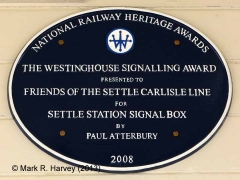 "Settle Station Signal Box: NRH ""Westinghouse Signalling Award"" 2008"